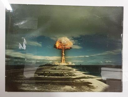 Essai Nucléaire. Tirage argentique en couleur...