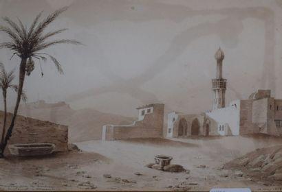 Ecole orientaliste. Mosquée près le tombeau...