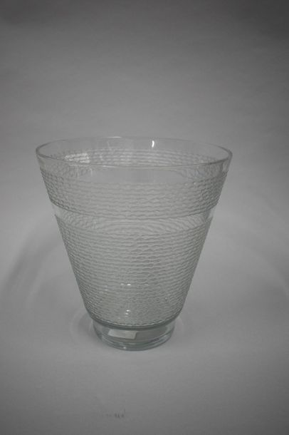 Daum France Vase en verre H. : 25 cm