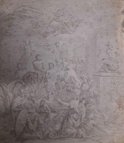 ECOLE FRANCAISE du XVIIIe siècle  Scène de...