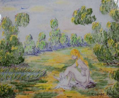 RENOIR Claude (1901-1969)  Femme nue dans...