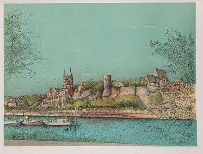 CARZOU Jean (1907-2000)  Angers, 1986  Lithographie, signée et datée en bas à droite,...