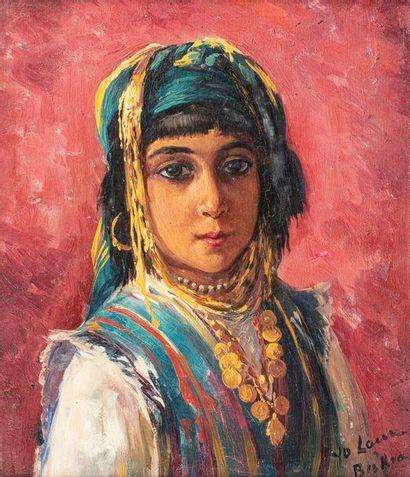 LAUR Yvonne LAUR Yvonne, 1879-1943  Portrait d'Ouled Nail, Biskra  huile sur carton,...