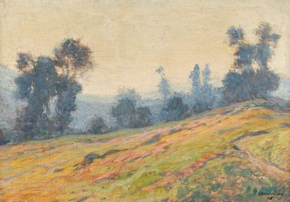 MADELINE Paul MADELINE Paul, 1863-1920  Campagne vallonée, 1905  huile sur toile,...