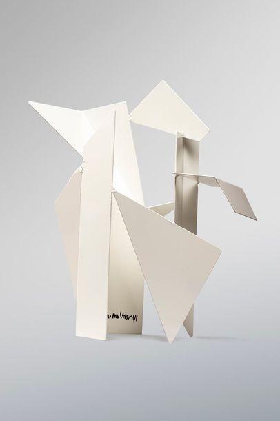 MALTIER Dominique MALTIER Dominique, né en 1954  Sans titre blanc  sculpture en métal...