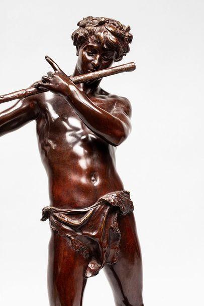 CHARPENTIER Félix CHARPENTIER Félix, 1858-1924  L'improvisateur  bronze à patine...