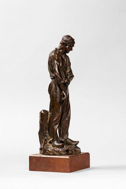 DALOU Aimé Jules DALOU Aimé Jules, 1838-1902  Paysan retroussant ses manches  bronze...