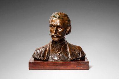 DRIVIER Léon Ernest DRIVIER Léon Ernest, 1878-1951  Buste d'homme, 1905  bronze à...