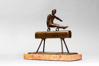 EICHHORN Georg EICHHORN Georg, XIXème-XX ème  Gymnaste au cheval d'arçon  bronze...