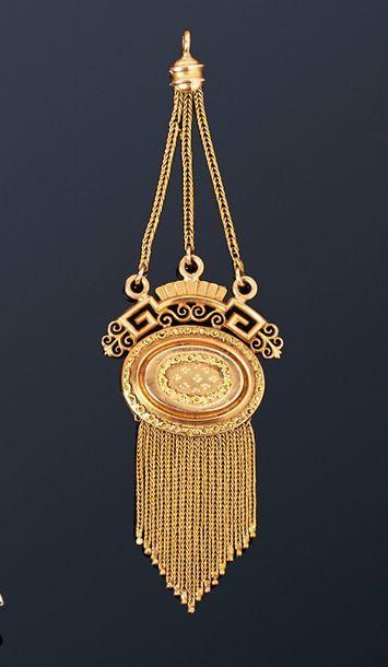 Pendentif en or jaune 18K (750), formé d'un...