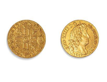 LOUIS XIV (1643.1715)  Louis d'or à la perruque...