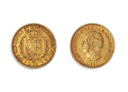 CHARLES FELIX (1821.1831)  80 Lires or. 1827...
