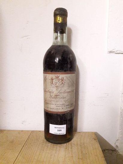 1 bouteille CH. SUDUIRAUT, 1° cru Sauternes...