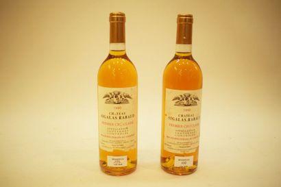 12 bouteilles CH. SIGALAS-RABAUD, 1° cru...