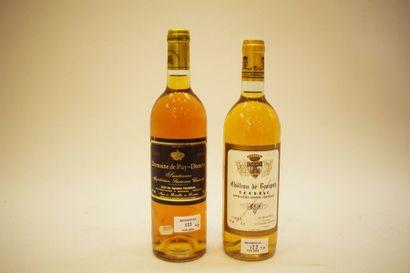 2 bouteilles LIQUOREUX (Loupiac 83 & Sauternes...