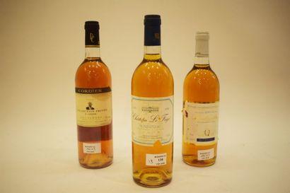 3 bouteilles LIQUOREUX (2 Monbazillac 90...