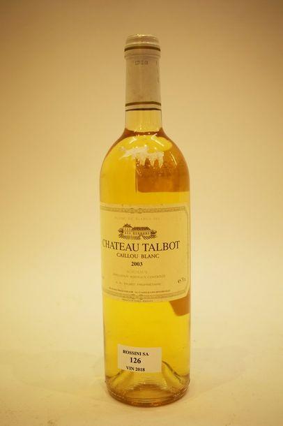 1 bouteille CAILLOU BLANC DE TALBOT, 2003...