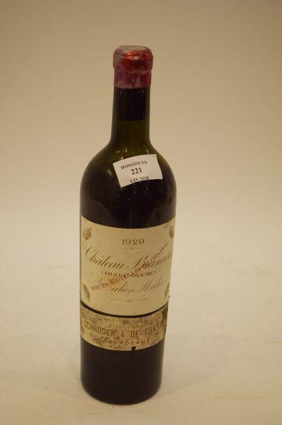 1 bouteille CH. BRANAIRE-DUCRU, 4° cru Saint-Julien...