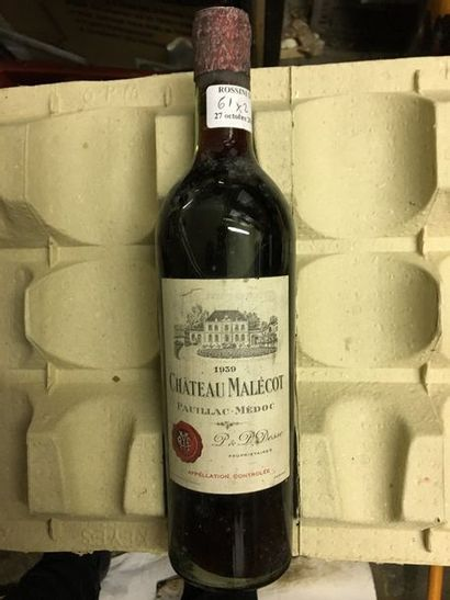 1 bouteille CH. MALECOT, Pauillac 1939...