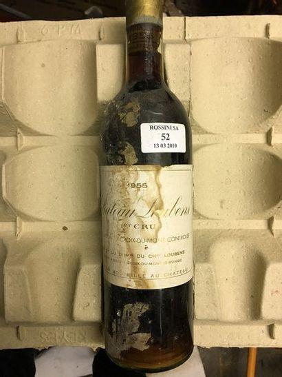 1 bouteille CH. LOUBENS,  Ste-Croix-du-Lont...