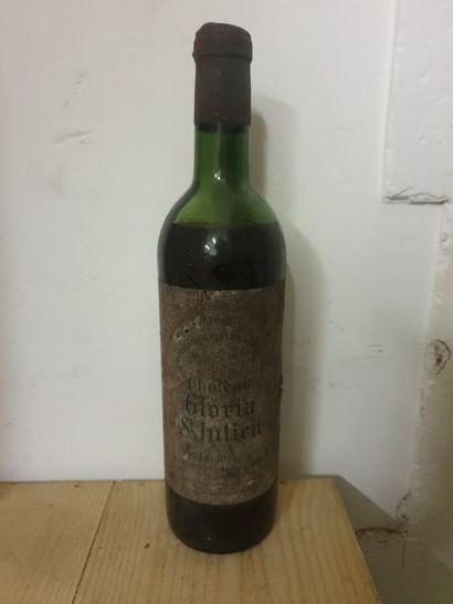 1 bouteille CH. GLORIA, Saint-Julien 1962...