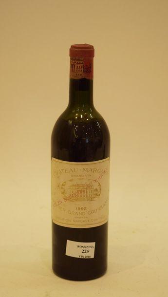1 bouteille CH. MARGAUX, 1° cru Margaux 1962...