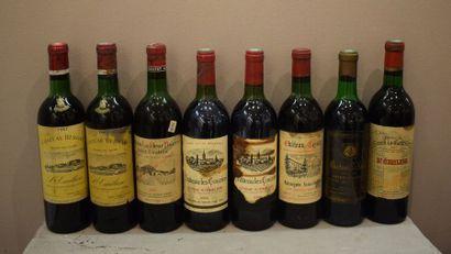 8 bouteilles SAINT-ÉMILION & Satellites...