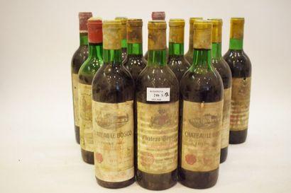12 bouteilles VIEUX BORDEAUX (années 70,...