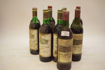 12 bouteilles VIEUX BORDEAUX (années 70)...