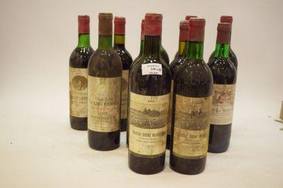 11 bouteilles VIEUX BORDEAUX (années 70 et...