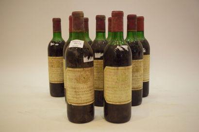 9 bouteilles MARIN St-Emilion 1970 (LB)