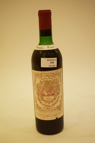 2 bouteilles CH. PICHON LONGUEVILLE-BARON,...