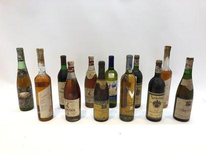 12 bouteilles VINS DIVERS (Grèce, Allemagne,...