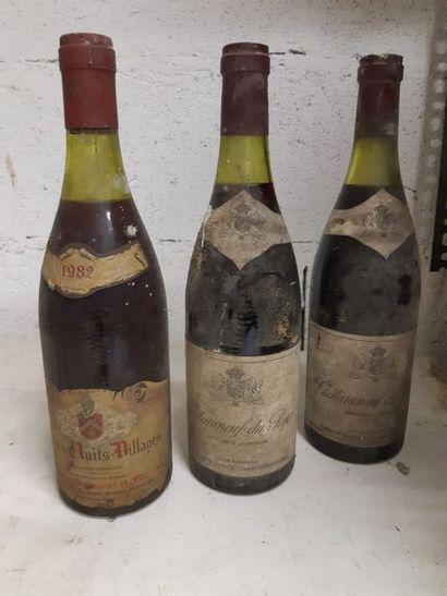 Ensemble de 3 bouteilles   1 bouteille...