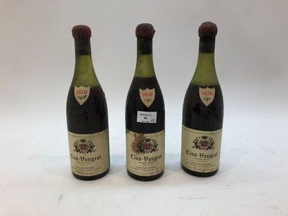 3 bouteilles CLOS-VOUGEOT, F. Gerbet 1970...