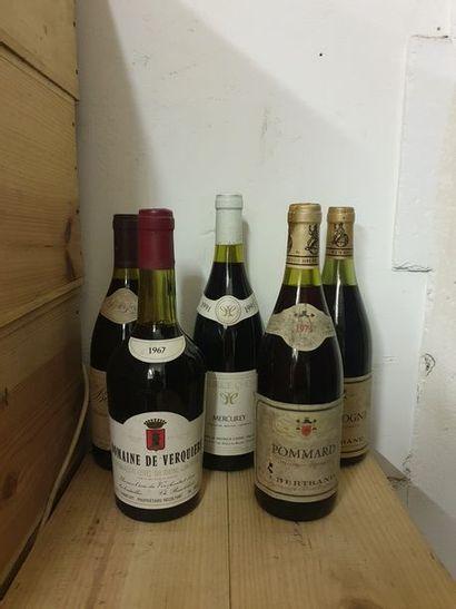 7 bouteilles BOURGOGNE  (Pommard 1973,...