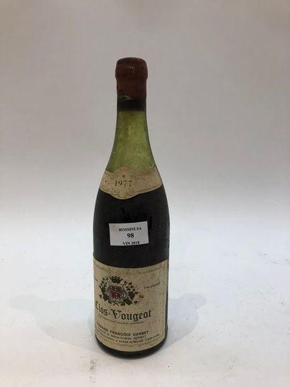 1 bouteille CLOS-VOUGEOT, F. Gerbet 1977...