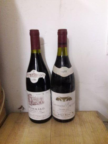 2 bouteilles POMMARD (1 Guérin 88, 1 Pouures...