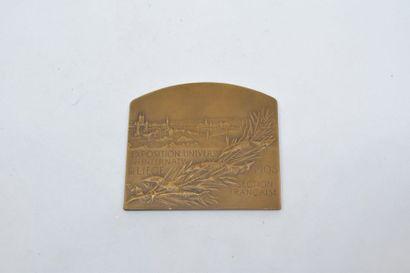 [ VERNON ]  Médaille en bronze à patine brune...