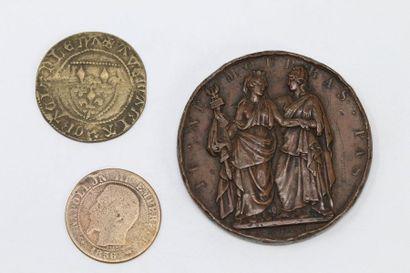 Médaille en bronze  Avers : TU. NE. MOURRAS....