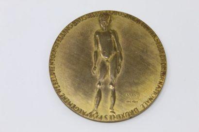 LEPLAE Charles (XX)  Médaille en bronze «...