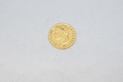 Pièce en or de 20 Francs Napoléon Ier tête...