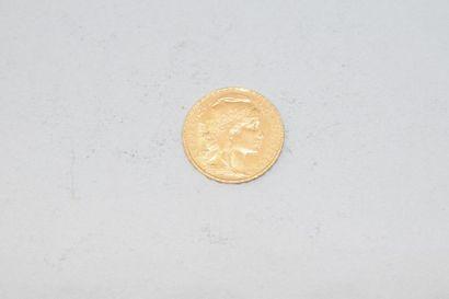 Pièce en or de 20 francs Coq, Liberté, égalité,...