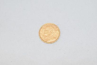 Pièce en or de 20 francs Vreneli. (1902 B)...
