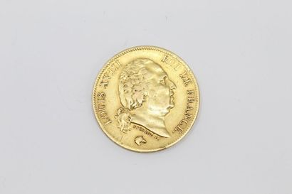 Pièce en or de 40 Francs - Louis XVIII 1817...