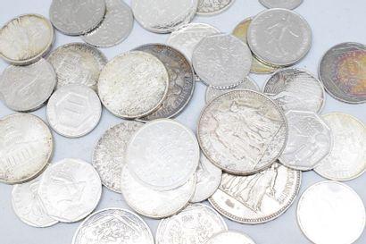 Lot de pièces en argent.  Poids : 394,50...