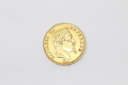 Pièce en or de 100 francs Napoleon III tête...