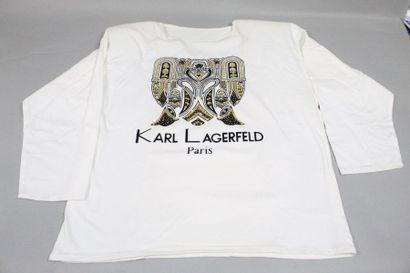 Karl LAGERFELD  Tee shirt femme à manches...