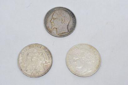 IIème République (1848-1852) 5 Francs type...