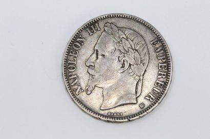 Pièce de 5 francs en argent Napoléon III...